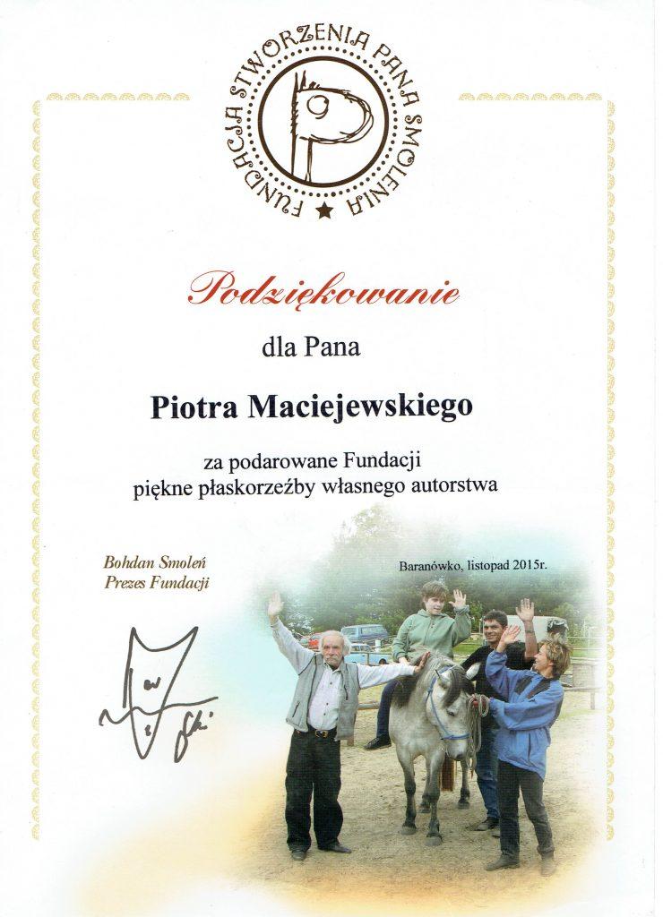 Dyplomy i podziękowania